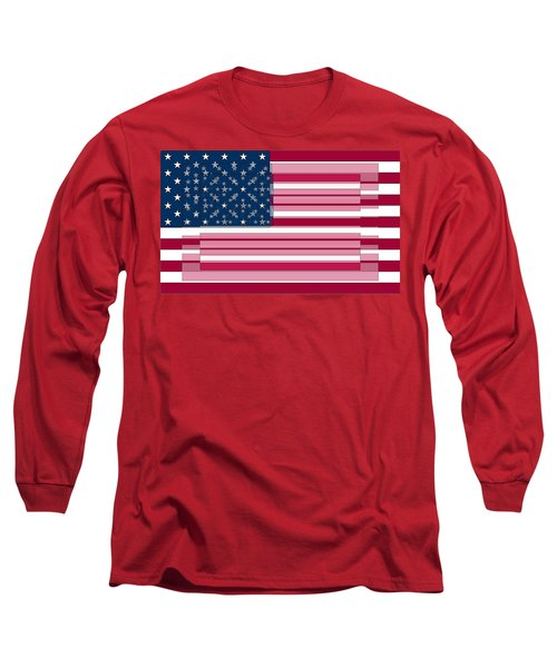 Three Layered Flag Long Sleeve T-Shirt by David Bridburg