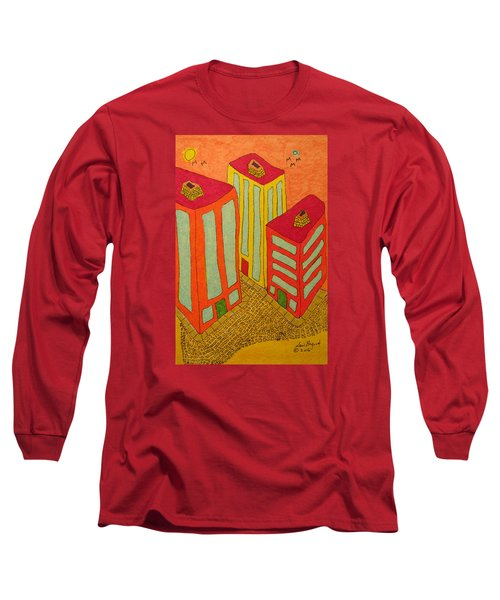 Three Office Towers Long Sleeve T-Shirt