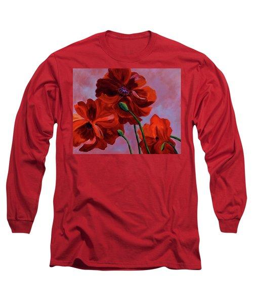 Three Oriental Poppies Long Sleeve T-Shirt