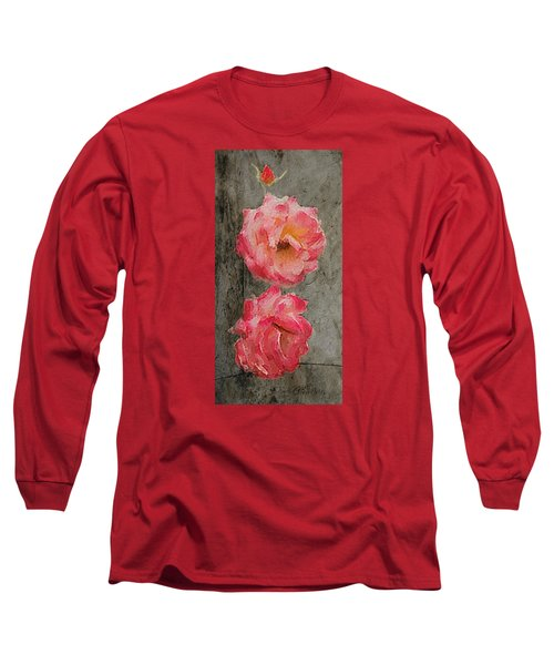 Long Sleeve T-Shirt featuring the digital art Three Roses by Dale Stillman