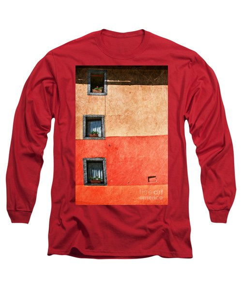 Three Vertical Windows Long Sleeve T-Shirt