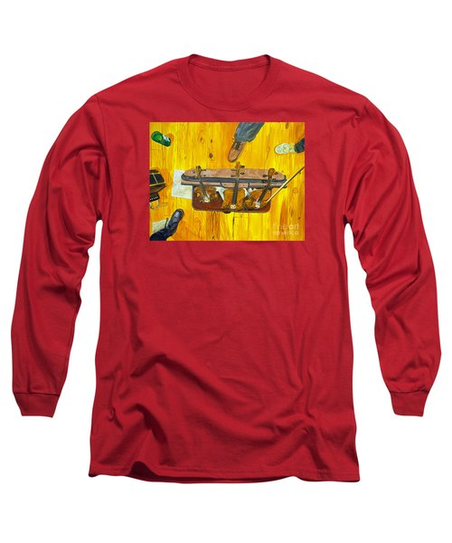 Long Sleeve T-Shirt featuring the painting Three Violins by Jock McGregor