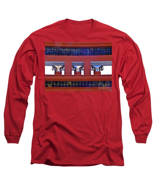 Threereflective Columns Long Sleeve T-Shirt