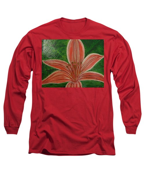 Tiger Lilly Long Sleeve T-Shirt by Barbara Yearty