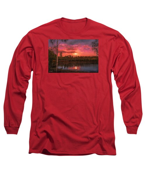Long Sleeve T-Shirt featuring the painting Time Of Grace by Rose-Maries Pictures