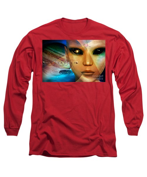 Long Sleeve T-Shirt featuring the digital art Timeless Traveller by Shadowlea Is
