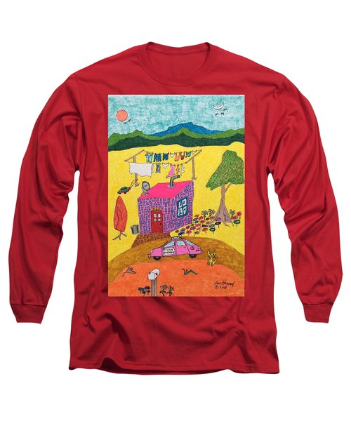 Tiny House With Clothesline Long Sleeve T-Shirt
