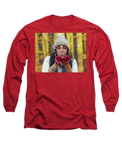 Long Sleeve T-Shirt featuring the photograph Tis The Season.. by Nina Stavlund