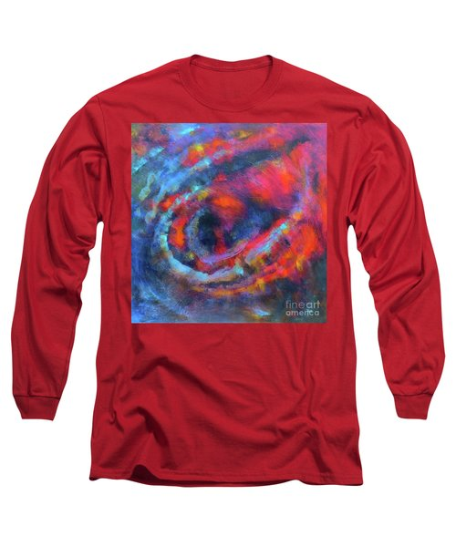 Fantasies In Space Series Painting.galactic Transitions. Acrylic Painting. Long Sleeve T-Shirt