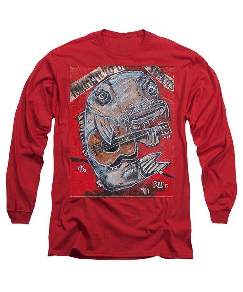 Blues Cat Long Sleeve T-Shirt