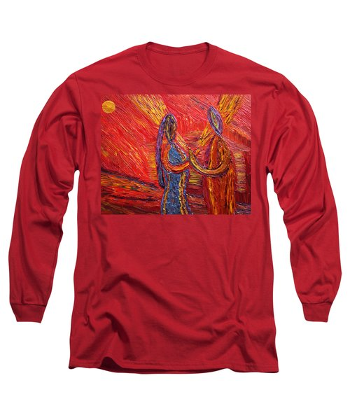 Long Sleeve T-Shirt featuring the painting To Be My Second Self... by Vadim Levin