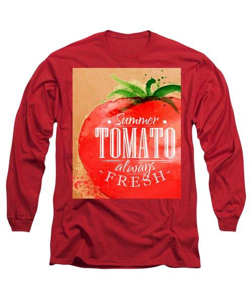 Tomato Long Sleeve T-Shirt by Aloke Creative Store