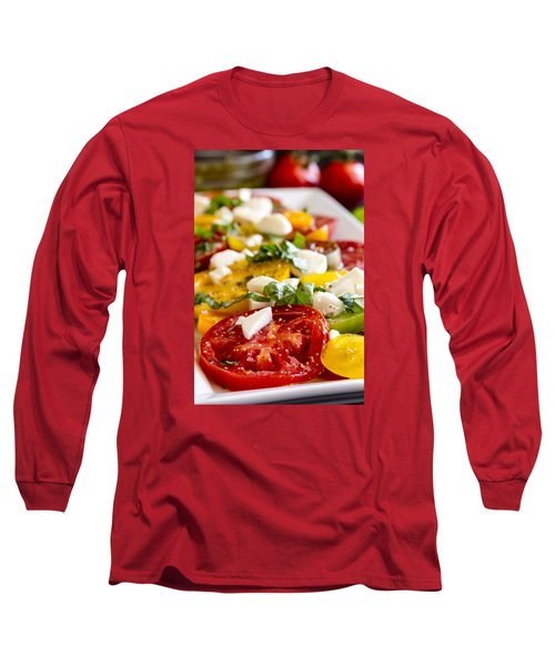 Tomatoes, Basil And Cheese Long Sleeve T-Shirt