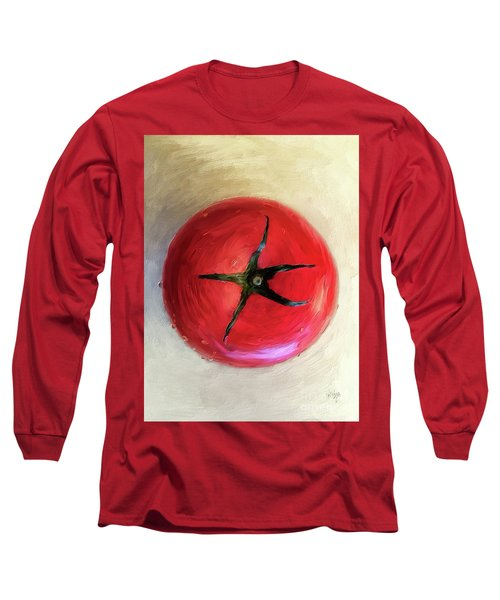 Long Sleeve T-Shirt featuring the digital art Tomato by Lois Bryan