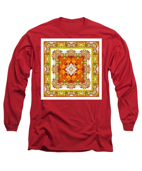 Topaz And Peridot Bling Kaleidoscope Long Sleeve T-Shirt