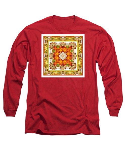 Topaz And Peridot Bling Kaleidoscope Long Sleeve T-Shirt
