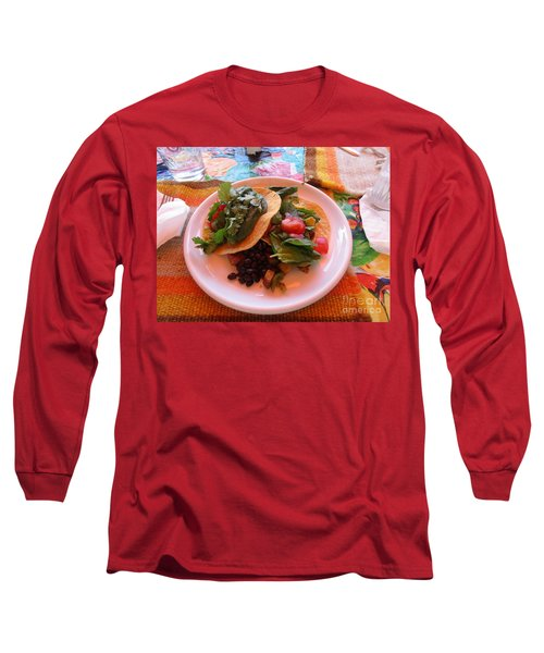 Long Sleeve T-Shirt featuring the photograph Tostada Times Two by Marie Neder
