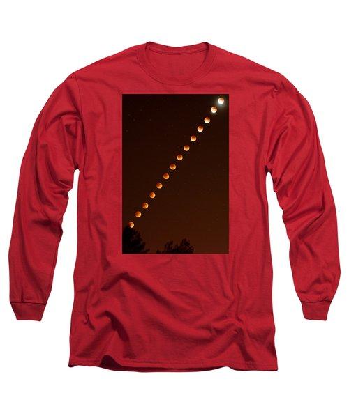 Total Lunar Eclipse September 27 2015 Long Sleeve T-Shirt by Brian Lockett