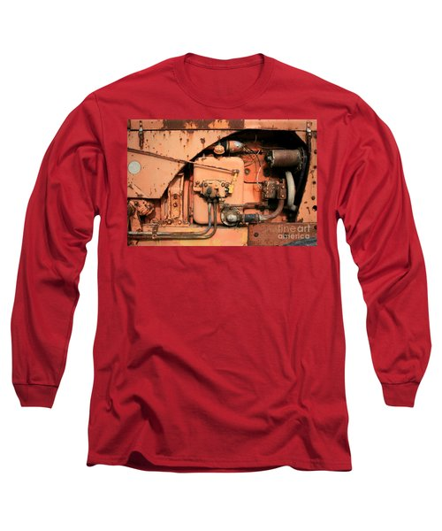 Tractor Engine V Long Sleeve T-Shirt by Stephen Mitchell