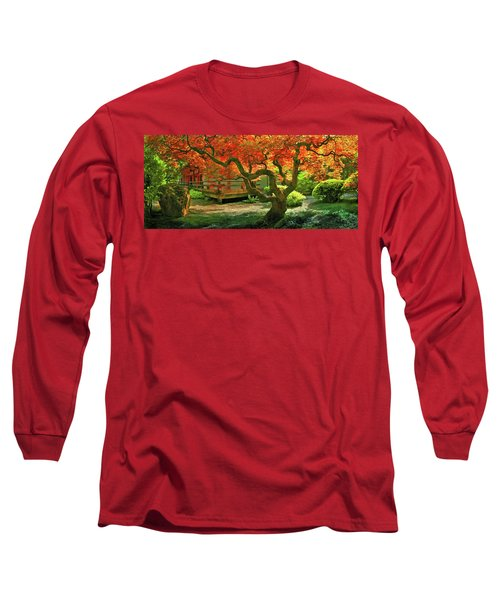 Tree, Japanese Garden Long Sleeve T-Shirt
