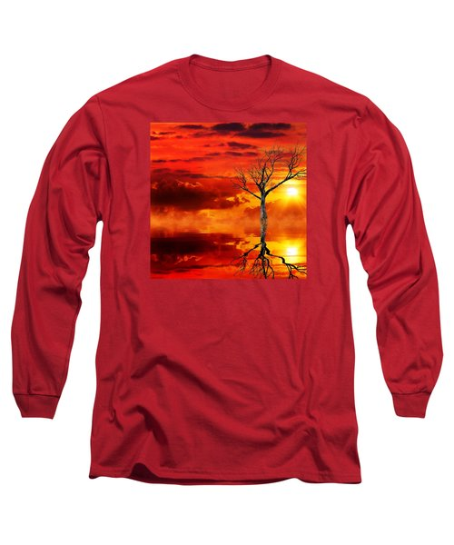 Tree Of Destruction Long Sleeve T-Shirt by Gabriella Weninger - David