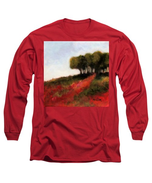 Trees On The Hill Long Sleeve T-Shirt by Marti Green