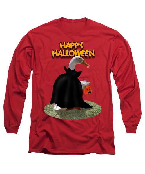Trick Or Treat For Count Duckula Long Sleeve T-Shirt by Gravityx9  Designs