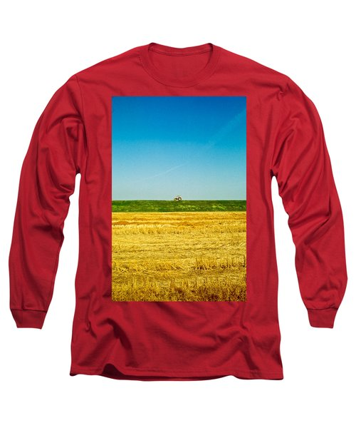 Tricolor With Tractor Long Sleeve T-Shirt