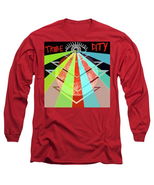 Long Sleeve T-Shirt featuring the painting Triiibe City For Bxdizzy419 by Chief Hachibi