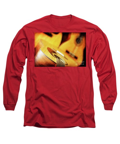 Trio Of Acoustic Guitars Long Sleeve T-Shirt by Lincoln Rogers