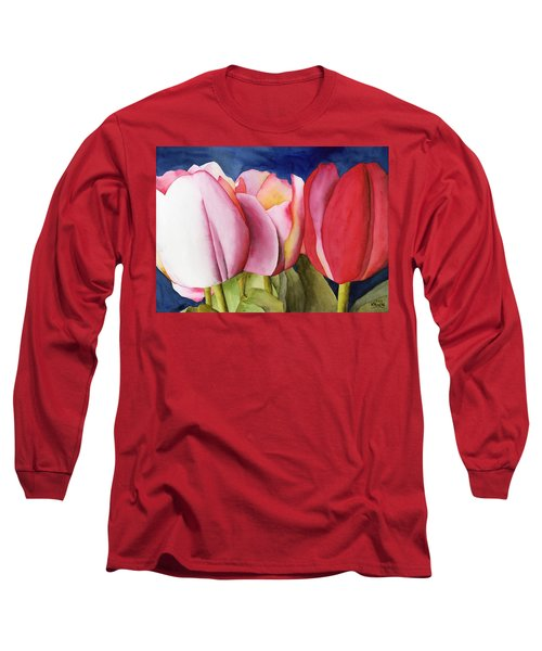 Triple Tulips Long Sleeve T-Shirt