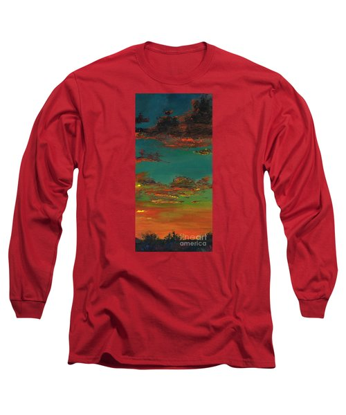 Triptych 3 Long Sleeve T-Shirt by Frances Marino