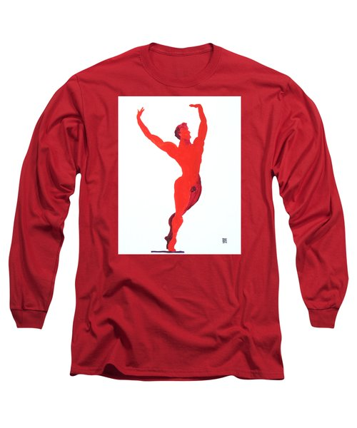 Long Sleeve T-Shirt featuring the painting Triumphant Balance by Shungaboy X