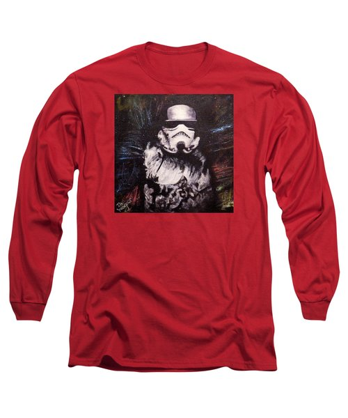 Long Sleeve T-Shirt featuring the painting Trooper  by Dan Wagner