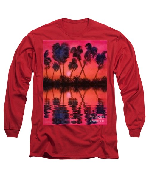Tropical Heat Wave Long Sleeve T-Shirt by Holly Martinson