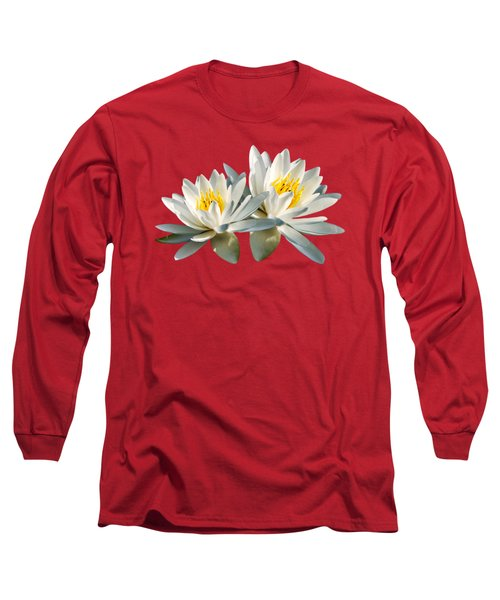 Long Sleeve T-Shirt featuring the photograph Tropical Water Lily by Christina Rollo