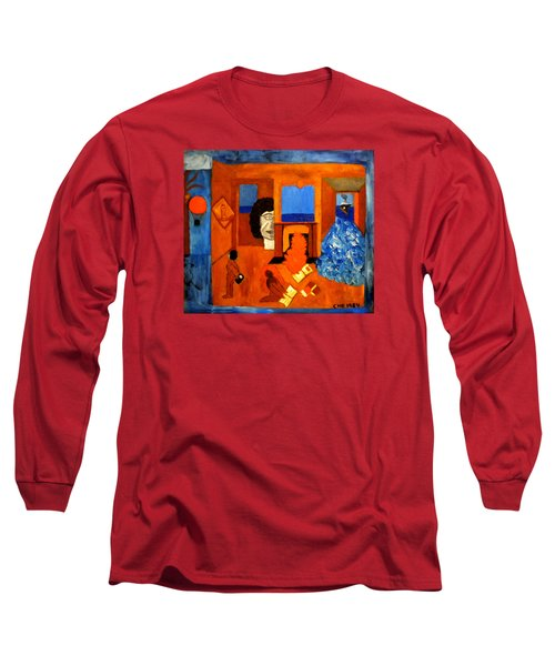 Trying To Find The Way Out Or Is It Better To Stay   Long Sleeve T-Shirt by Colette V Hera  Guggenheim
