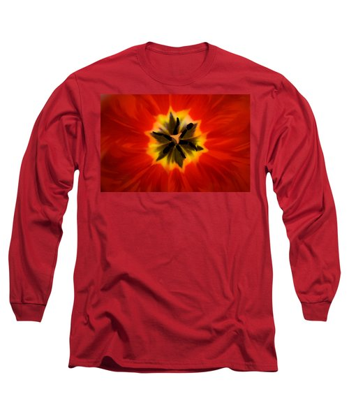 Tulip Explosion Kaleidoscope Long Sleeve T-Shirt