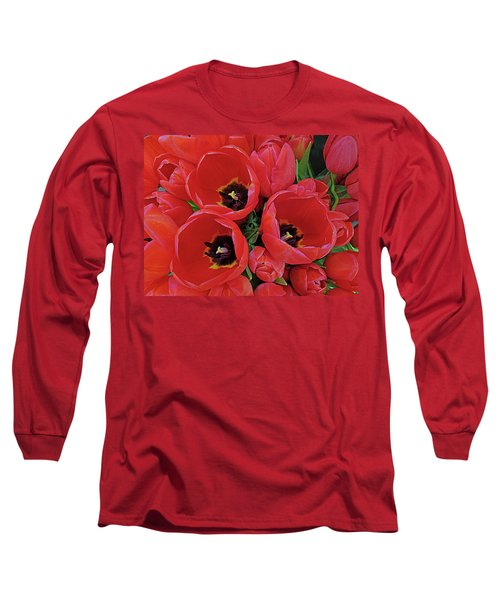 Long Sleeve T-Shirt featuring the photograph Tulip Parade by Suzy Piatt