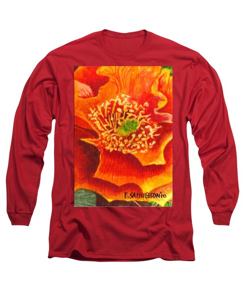 Tulip Prickly Pear Long Sleeve T-Shirt by Eric Samuelson