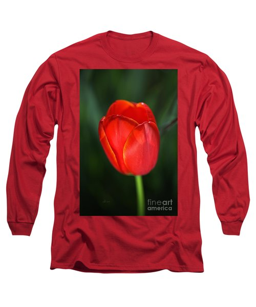 Tulip Red With A Hint Of Yellow Long Sleeve T-Shirt