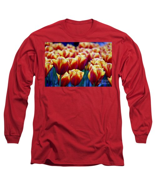 Tulips At Sunset Long Sleeve T-Shirt by Michael Cinnamond
