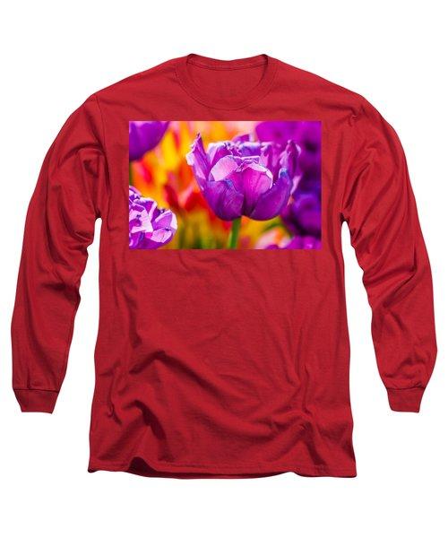 Long Sleeve T-Shirt featuring the photograph Tulips Enchanting 43 by Alexander Senin