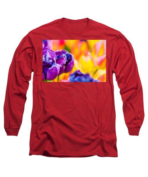 Long Sleeve T-Shirt featuring the photograph Tulips Enchanting 49 by Alexander Senin