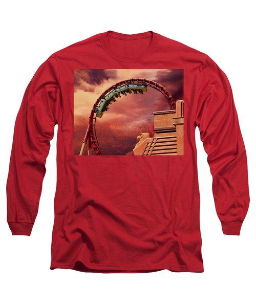 Turbulence Long Sleeve T-Shirt by Iryna Goodall
