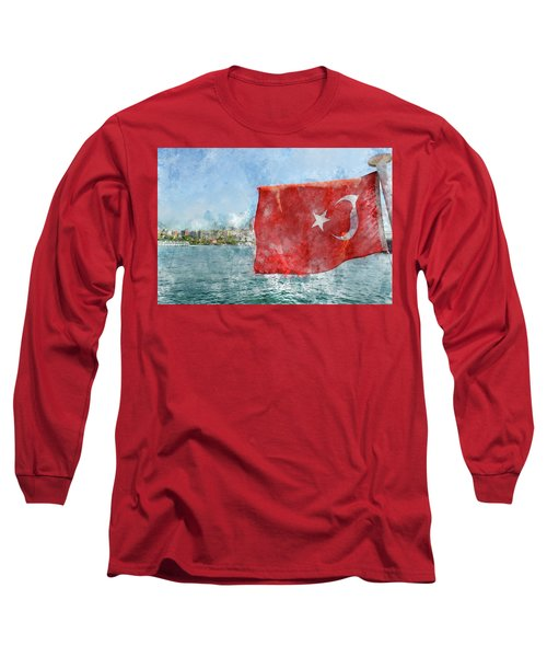 Turkish Flag Long Sleeve T-Shirt