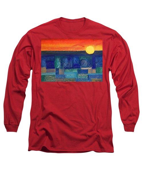 Turquoise Sunset Long Sleeve T-Shirt