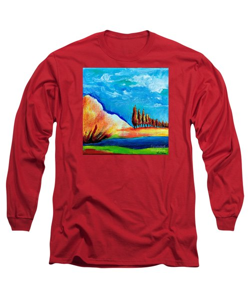 Tuscan Cypress Long Sleeve T-Shirt by Elizabeth Fontaine-Barr
