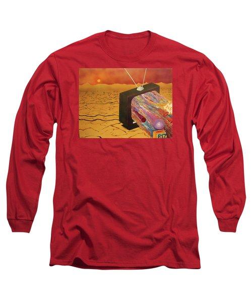 Tv Wasteland Long Sleeve T-Shirt by Thomas Blood
