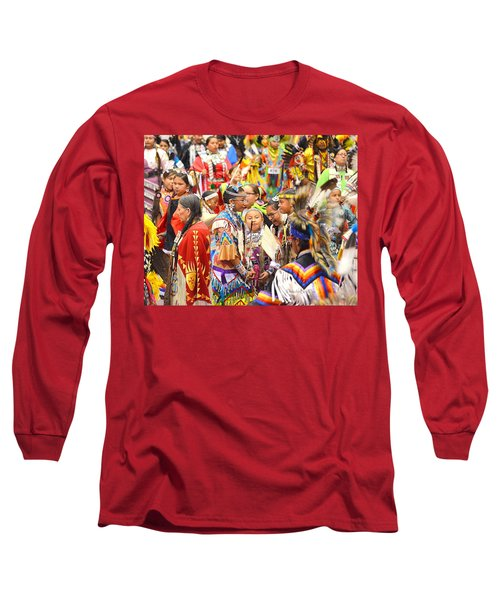 Tweens At Grand Entry Long Sleeve T-Shirt by Clarice  Lakota